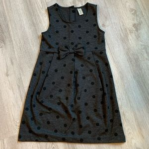 Belle Bird Bow Polka Dot Dress, Size 6X